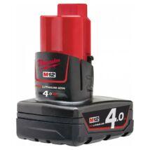 Milwaukee M12 B4, 4.0 Ah akkumulátor | 4932430065