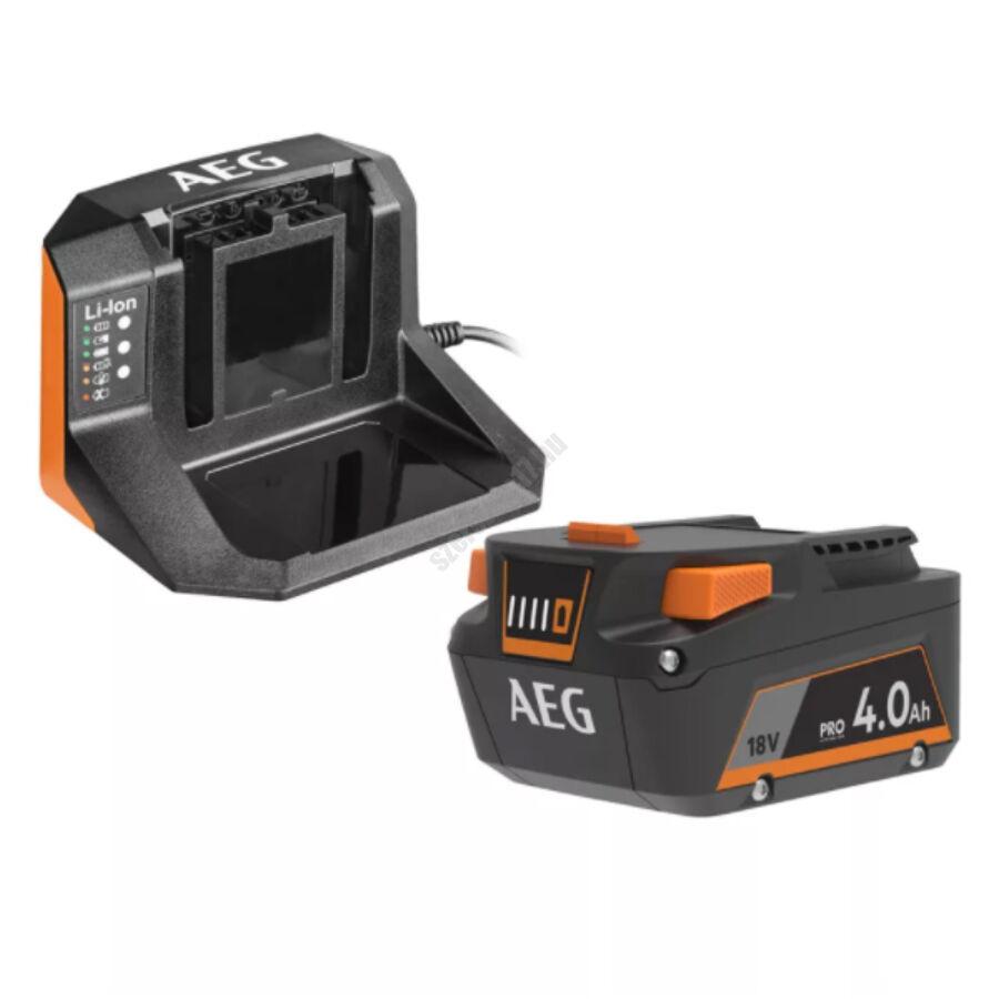 AEG 4.0 Ah subcompact akkumulátor és töltő| SET L1840S (4935478933)