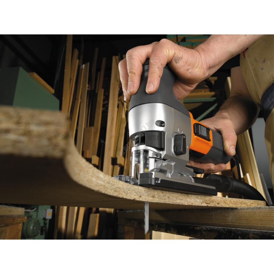 AEG 730 W szúrófűrész , 4 m kábel, fűrészlap, felszakadás gátló, porelszívócsonk, elszívó csatlakozás, koffer | STEP 1200 XE (4935412878)