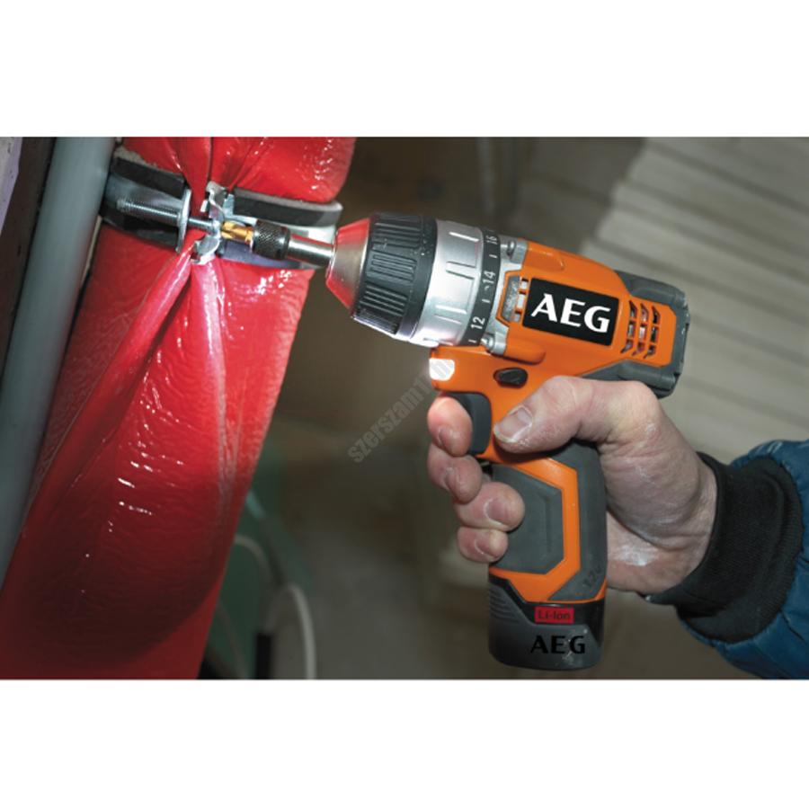 AEG 12 V fúrócsavarozó, 1 x 1,5 Ah akkumulátor, töltő, táska   BS 12C LI-151B (4935433901)
