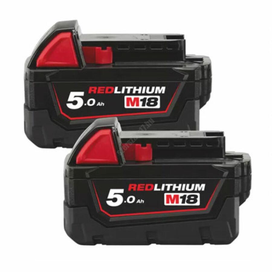 Milwaukee 2 × M18™ 5.0 AH akkumulátor   M18 B52 (4932451242)