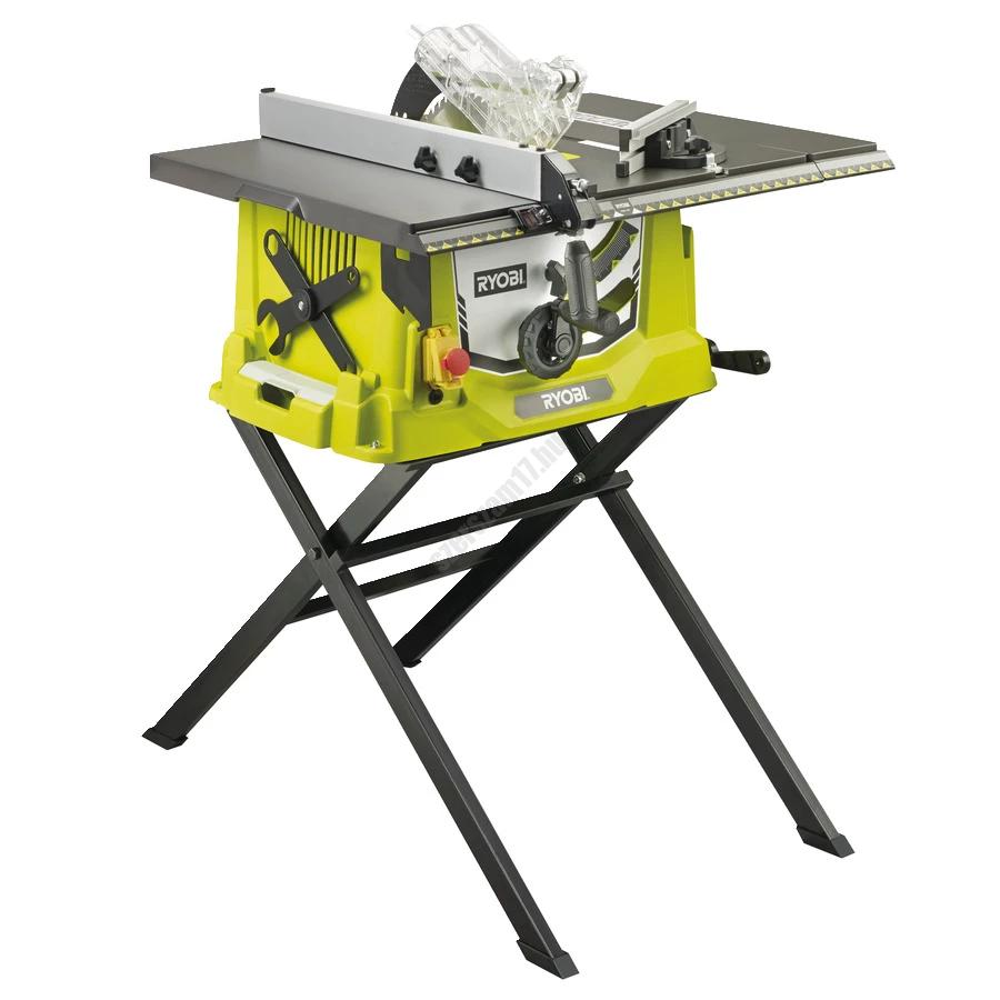 Ryobi 1800 W asztali körfűrész kihúzható alapszegéllyel, 48 fogas TCT fűrészlap | RTS1800ES-G (5133002023)
