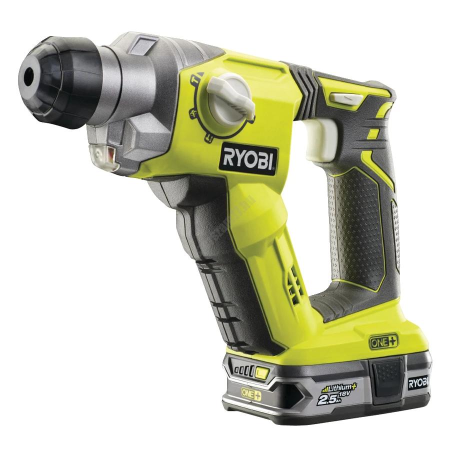 Ryobi 18 V  SDS-plus  fúrókalapács, 1 x 2,5 Ah akkumulátor, RC18-120 töltő | R18SDS-125S (5133003818)