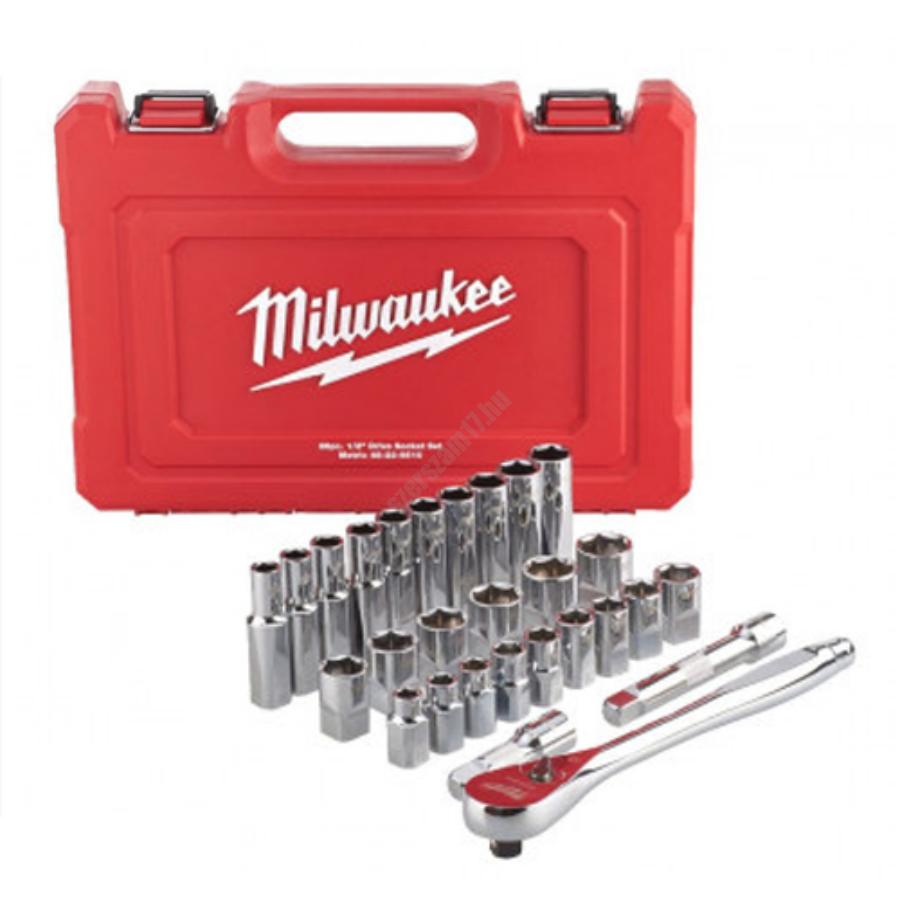 Milwaukee 1/2˝ racsni és dugókulcs készlet (28 részes)   4932471864