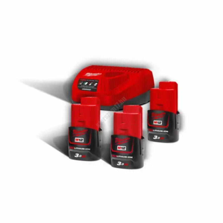 Milwaukee M12™ NRG pack, 3 x M12 B3 akkumulátor, C12 C Töltő | M12 NRG-303 (4933459207)