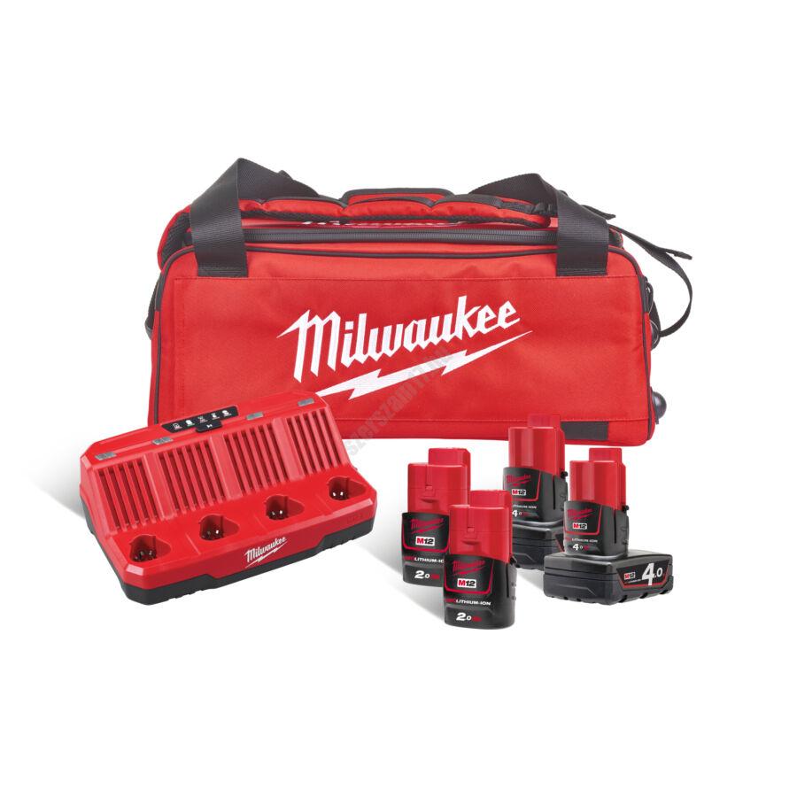 Milwaukee akkumulátor és töltő csomag | M12NRG-424B (4933471772)