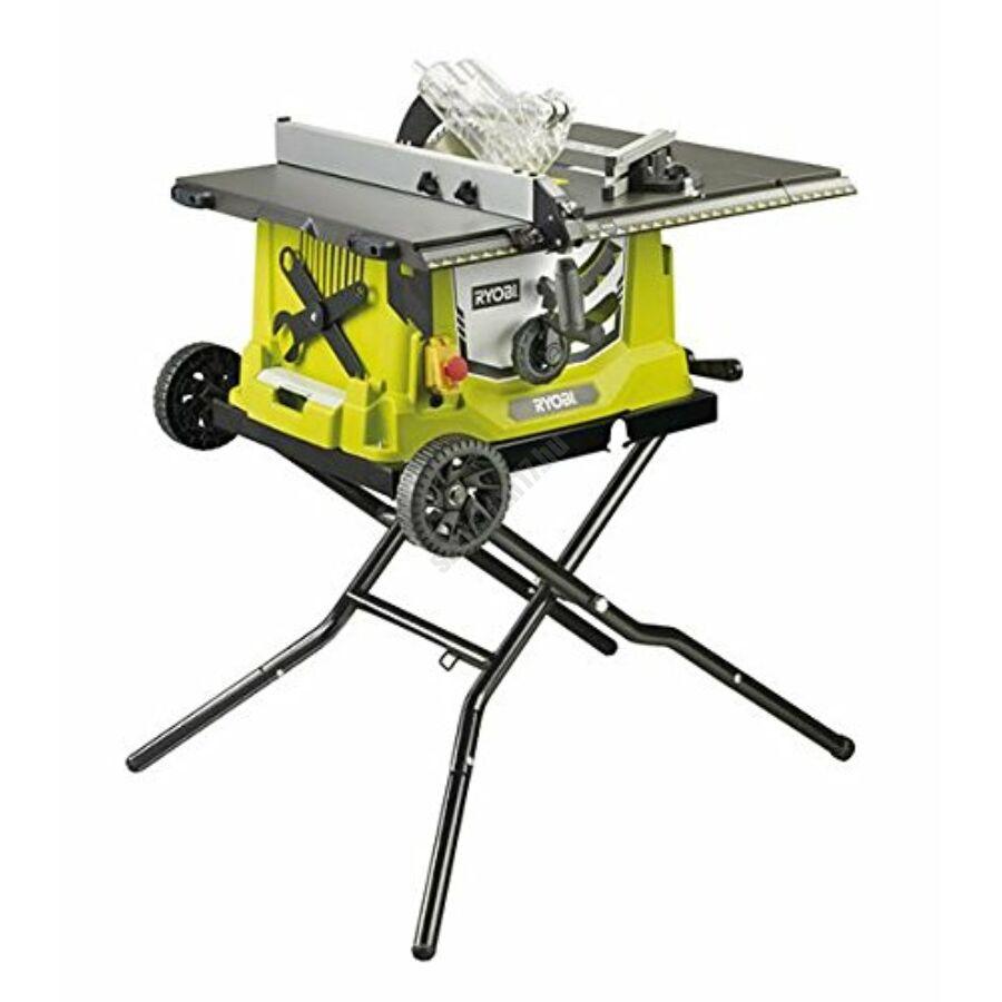 Ryobi 1800 W asztali körfűrész kihúzható alapszegéllyel, összecsukható állvánnyal, 48 fogas TCT fűrészlap   RTS1800EF-G (5133002025)