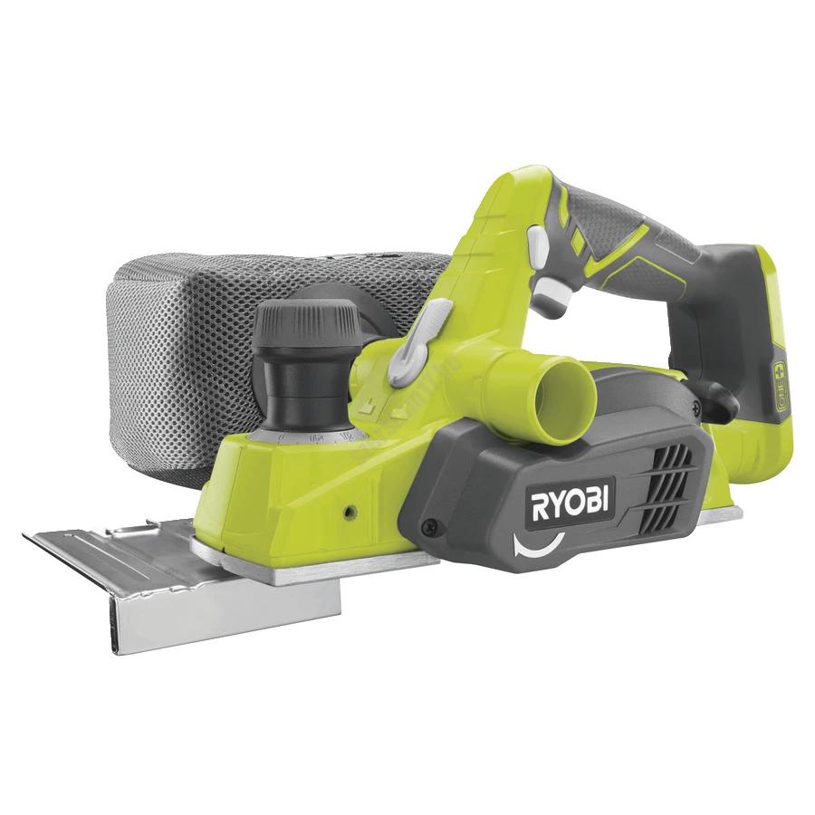 Ryobi 18 V gyalu, párhuzamvezető, porzsák, porelszívó adapter, 2x visszafordítható kés akkumulátor és töltő nélkül | R18PL-0 (5133002921)