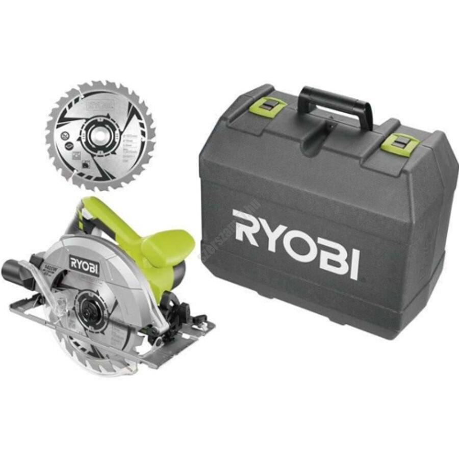 Ryobi 1400 W körfűrész lézerrel, 190x16 mm fűrészlap, 20 fogas TCT fűrészlap +1 x körfűrészlap   RCS1400-K2B (5133002926)