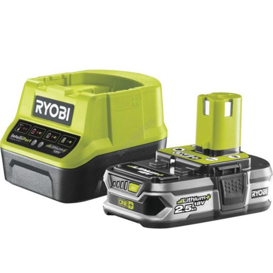 Ryobi 18 V töltő+1x2,5 Ah lítium-ion akkumulátor | RC18120-125 (5133003359)
