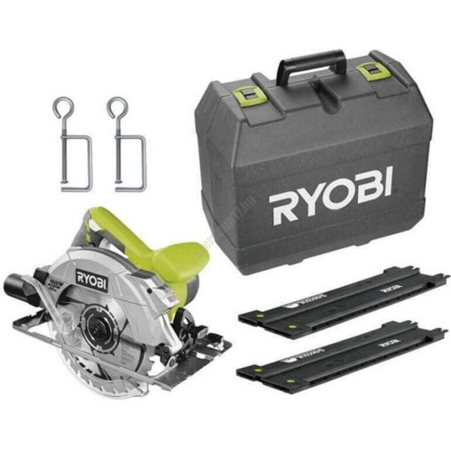 Ryobi 1600 W körfűrész lézerrel, 190x16 mm fűrészlap, 24 fogas TCT fűrészlap + 2 x körfűrészlap, vezető, koffer | RCS1600-KSR (5133003387)