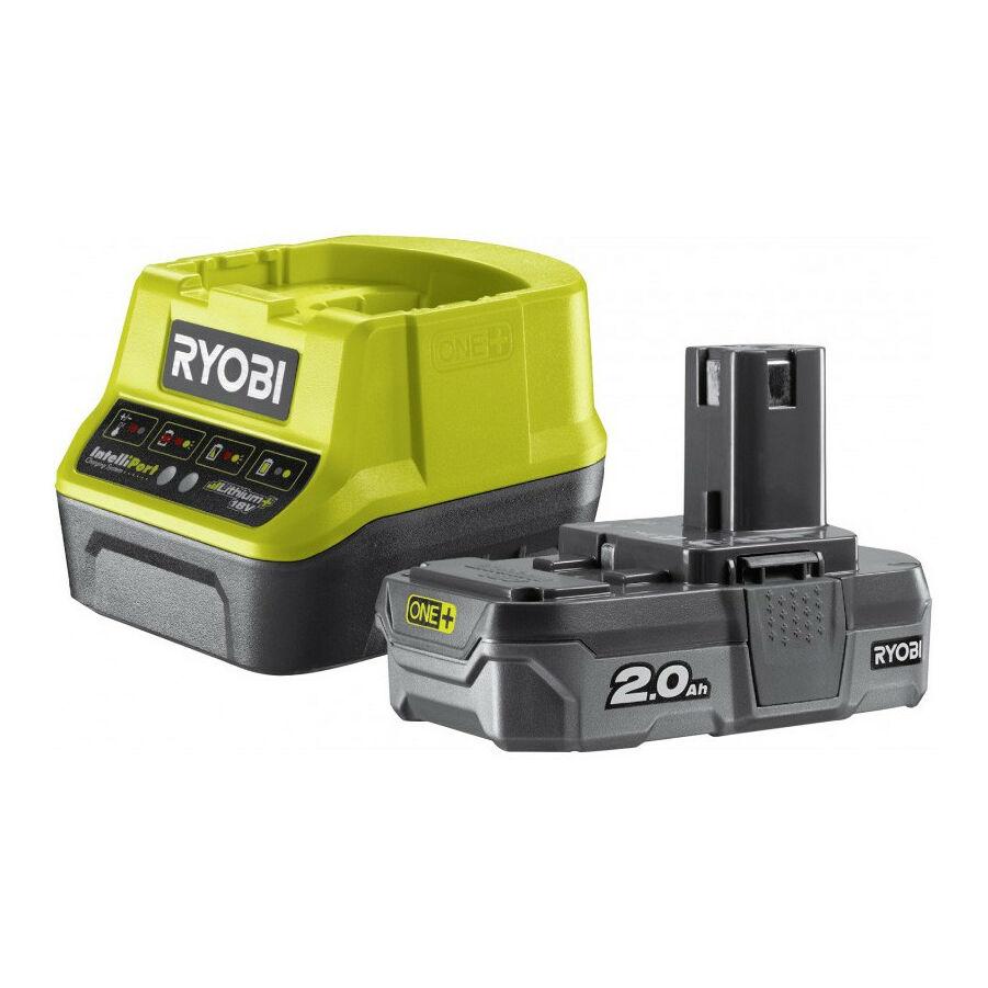 Ryobi 18 V töltő+1x2,0 Ah lítium-ion akkumulátor   RC18120-120 (5133003368)