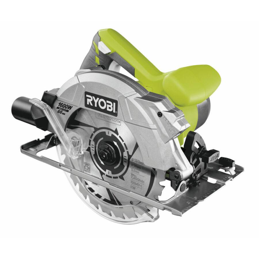 Ryobi 1600 W körfűrész lézerrel, 190x16 mm fűrészlap, 24 fogas TCT fűrészlap, koffer   RCS1600-K (5133002779)